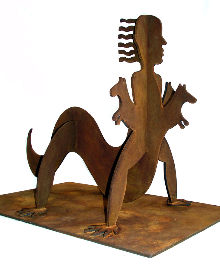 ", Marion-Lea Jamieson, 2010 wood with rust patina 13.5"" h x 10"" d x 15"" w"