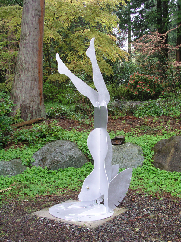 Flying Fishwoman at Big Rock Sculpture Garden, Bellingham WA