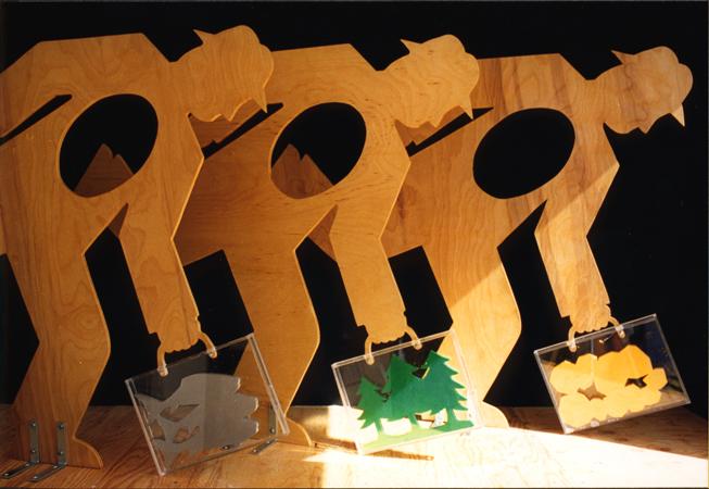 Special Cases, September 1999, Wood, plexiglas, 48″ x 72″ x 30″