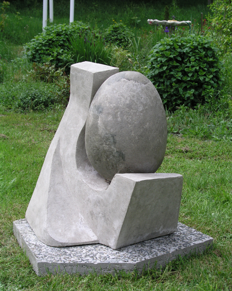 Still-Life,  Marion-Lea Jamieson, March 2003, concrete  3.5' high x 3' wide x 3' deep