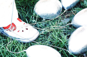 Silver eggs & Shoes, 1974 (detail from Egg-Hanger); Marion-Lea Jamieson;