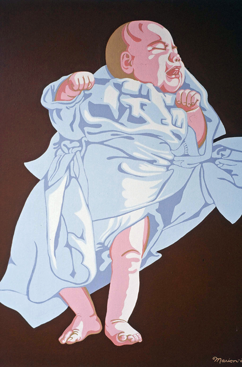 "Baby # 2, 1974 acrylic on canvas, 36"" x 36"""