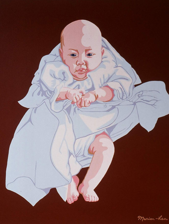 "Baby # 1, 1974 acrylic on canvas,  36"" x 36"""
