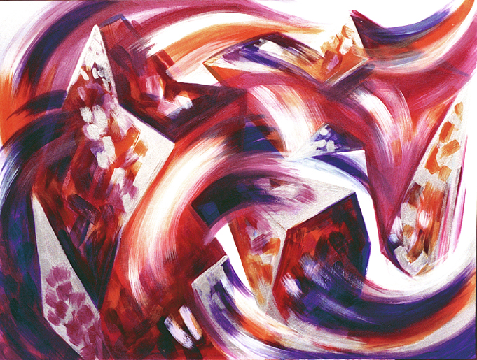 "Becoming Unbecoming, January 2000, Marion-Lea Jamieson acrylic on canvas, 36"" x 48"""