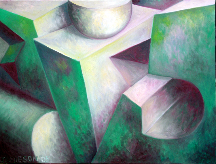 "Found Forms December 2005 oil on canvas 30"" x 40"""