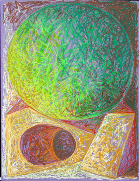 "A Spell to Balance July 2002 Marion-Lea Jamieson oil pastel on paper 26"" x 20"