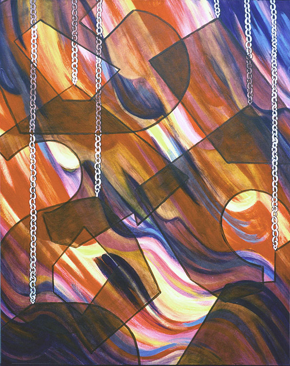 Suspension and Flow , June 1999 Marion-Lea Jamieson acrylic on canvas,  42' x 35""