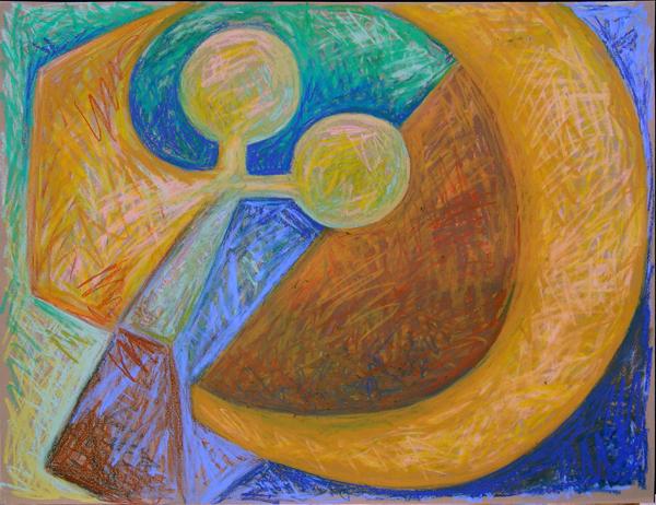 "Memory April 2004 Marion-Lea Jamieson oil pastel on paper 26"" x 20"""
