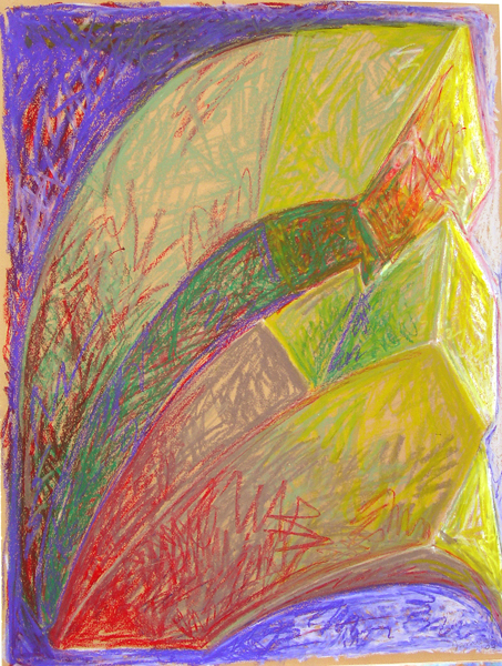 "Mortmain July 2002 MarionLea Jamieson oil pastel on paper 26"" x 20"""