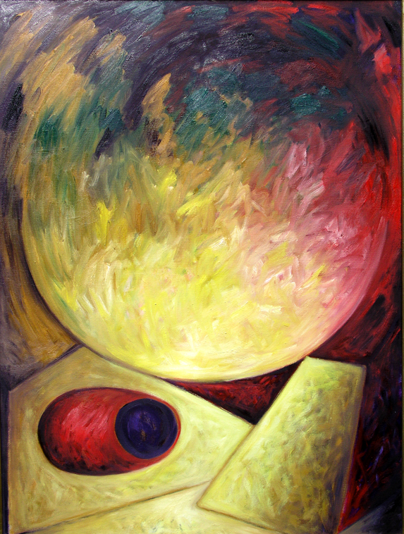 "Spell to Balance September 2005 oil on canvas 48"" x 36"""