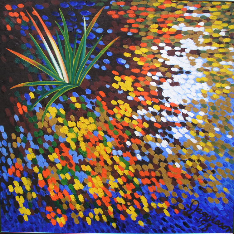 "Swamp Grass,1998, Marion-Lea Jamieson oil on canvas, 36"" x 36"""