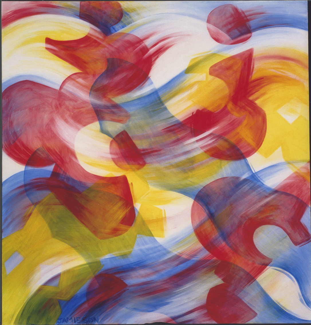 "Winter Song, November 1999  Marion-Lea Jamieson acrylic on canvas,  72"" x 60"""