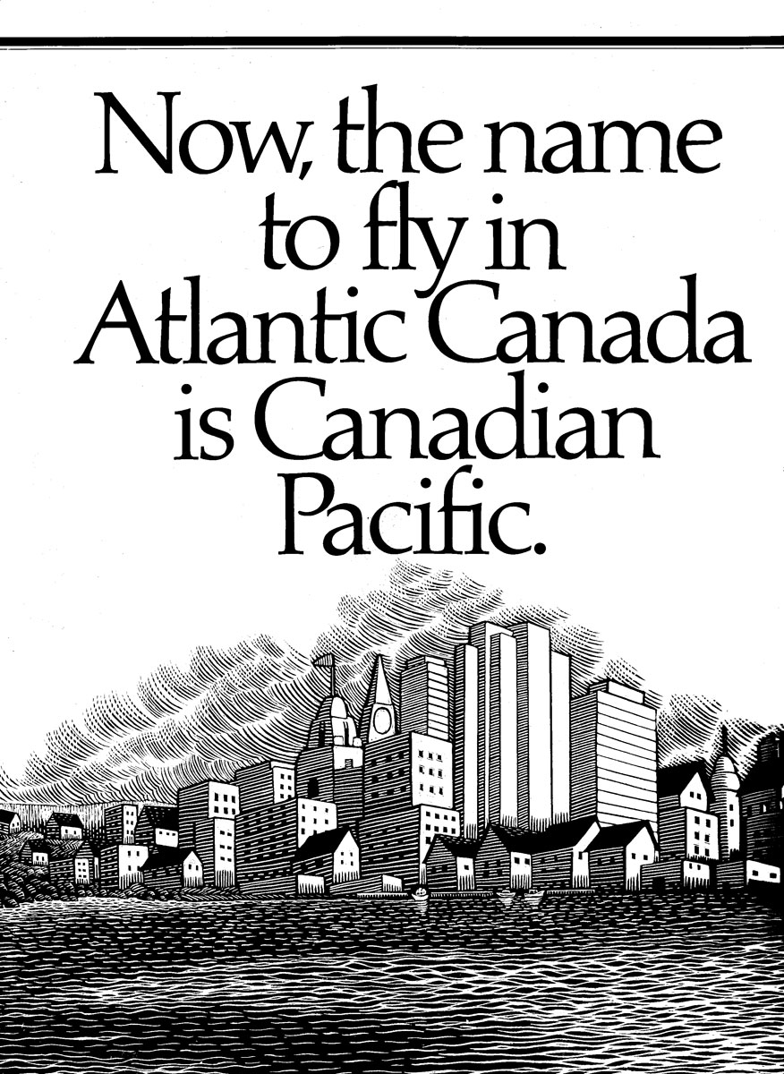 Illustration for Canadian Pacific Airlines by McKim Advertising Ltd. Vancouver BC 1986