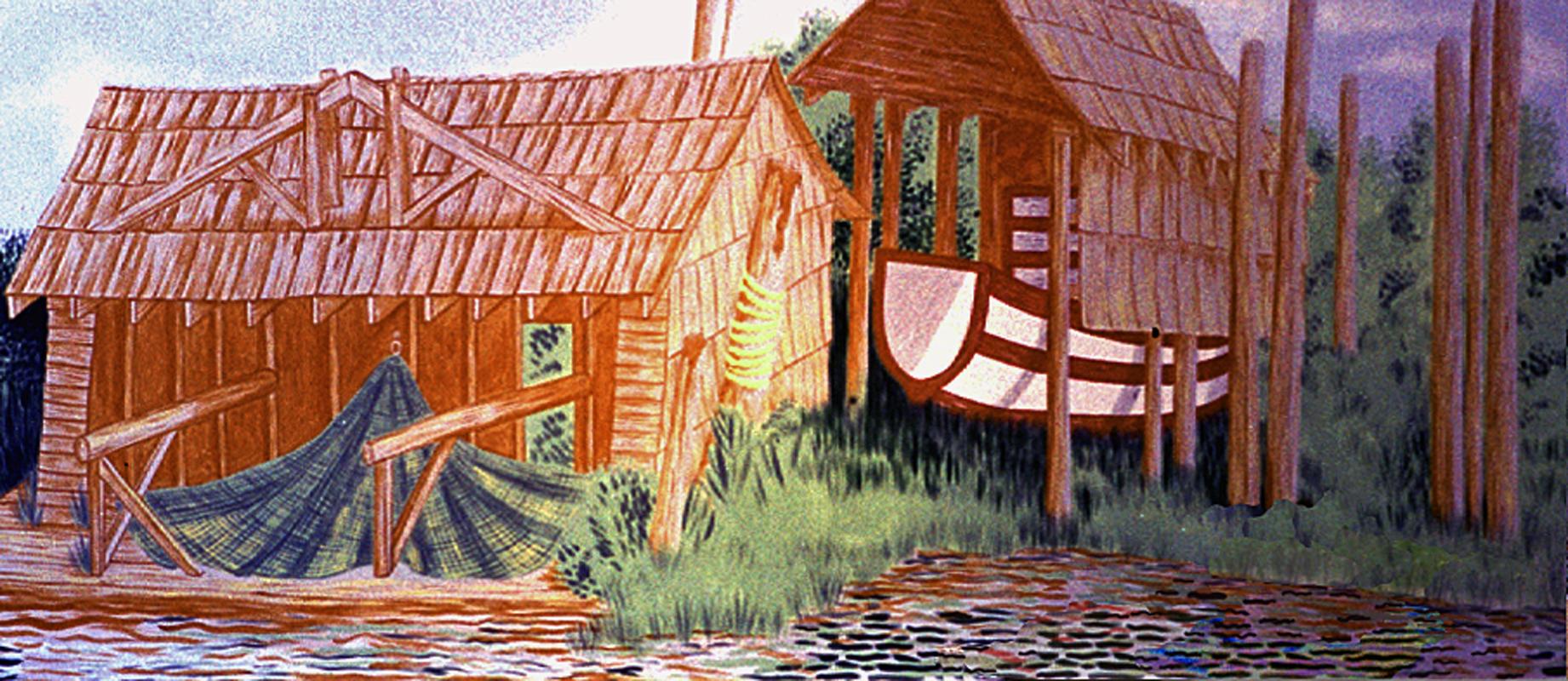 Finn Slough, 1997 acrylic on drywall 8' x 20'
