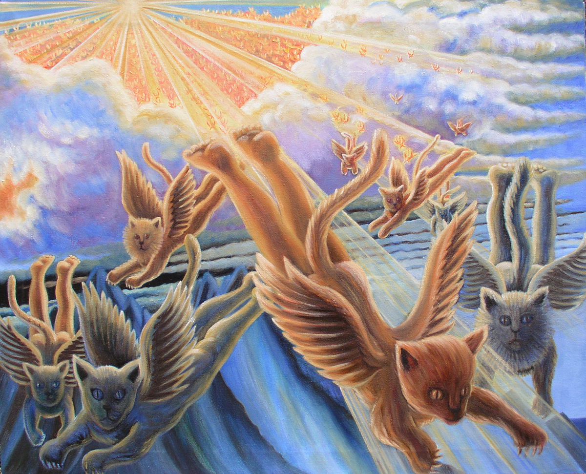"Wingéd Seraphim, Jan. 2016 26"" h x 32"" w oil on canvas"