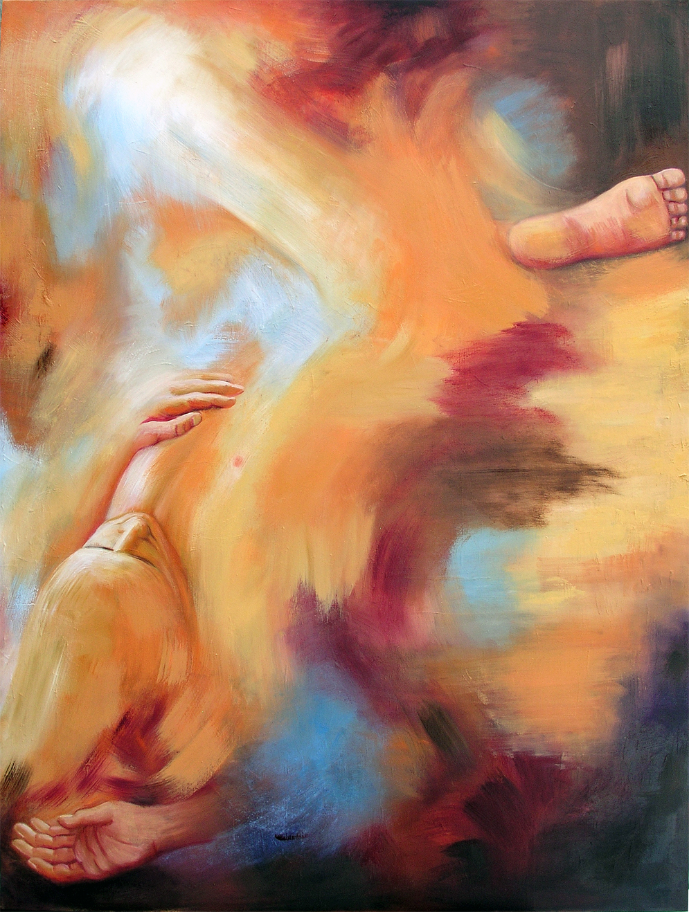 "Man Dreaming, 2017, Marion-Lea Jamieson, oil on canvas, 48"" x 36"""