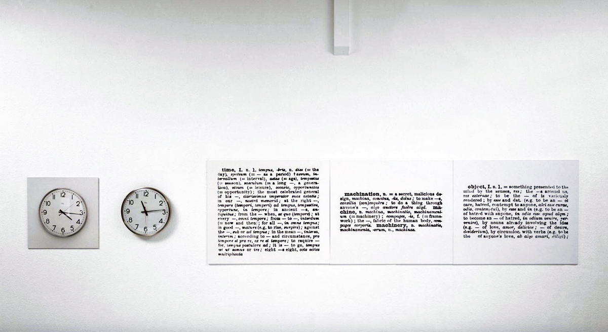 Joseph Kosuth, 'Clock (One and Five)
