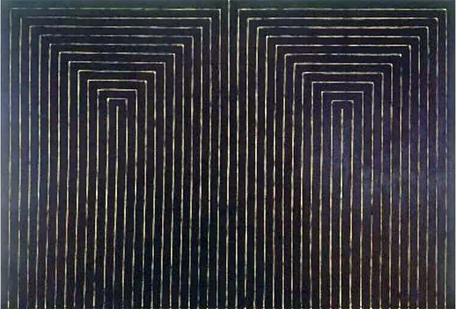 Frank Stella - The Marriage of Reason and Squalor, II, 1959, Enamel paint on canvas, 91 x 133 in.