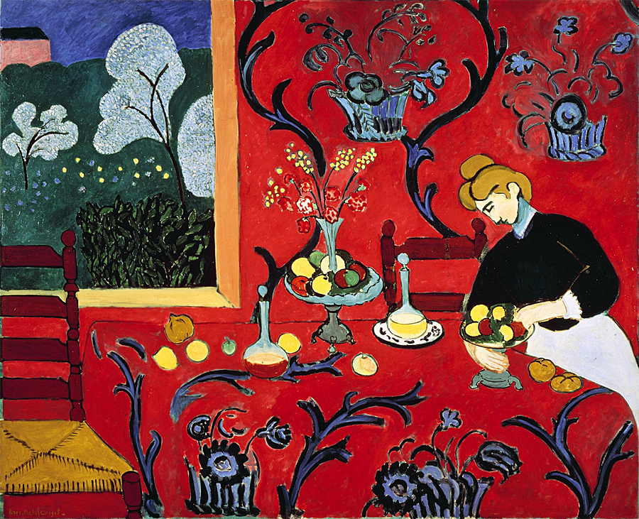 "The Dessert: Henri Matisse, 1908, ""Harmony in Red"""