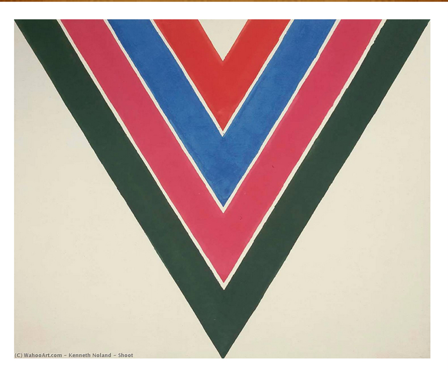 "Kenneth Noland, ""Shoot, - Acrylic On Canvas - 264 x 322 cm - 1964"