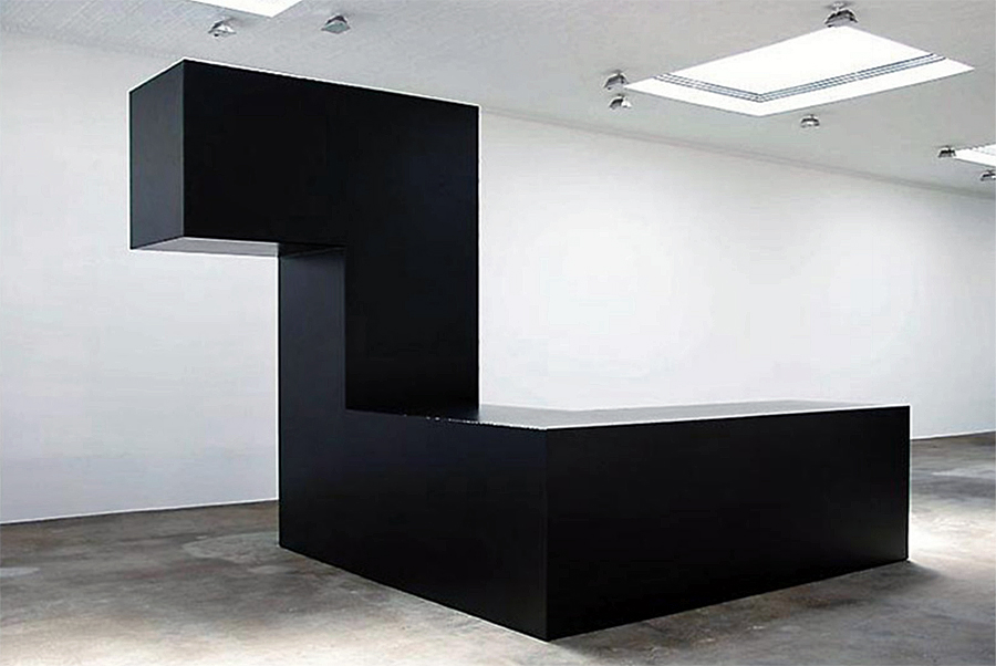 Tony Smith Night, 1962, Steel, painted black.