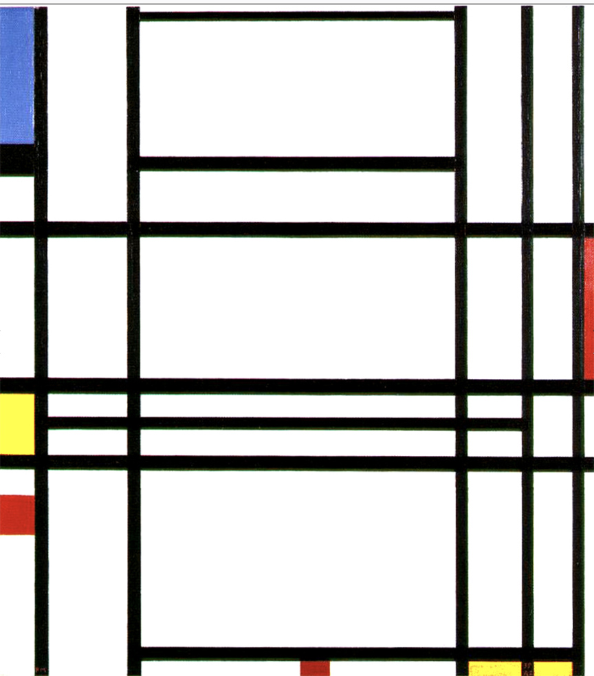 Piet Mondrian, Composition No. 10 (1939–42), oil on canvas.
