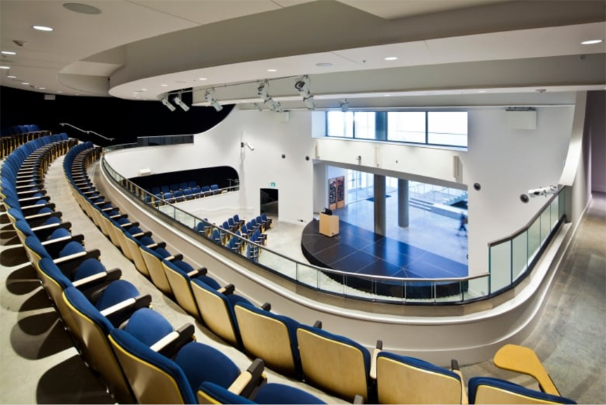A lecture hall at the new Emily Carr University campus in Vancouver. (Emily Carr University)