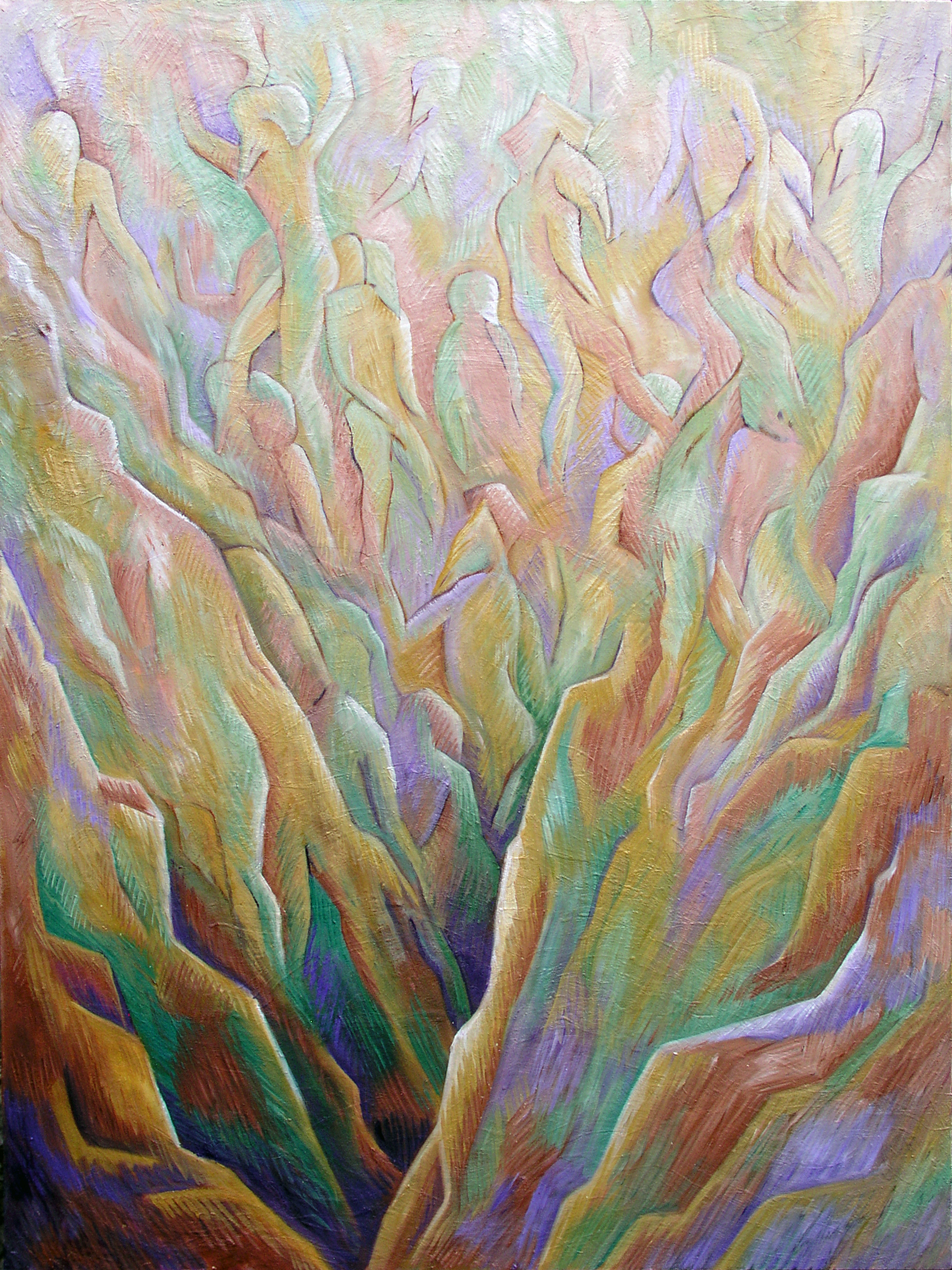 """Cosmion, March 2020, Marion-Lea Jamieson, oil on canvas, 48"""" h x 36"""" h,"""